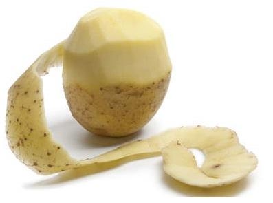 Patate épluchée